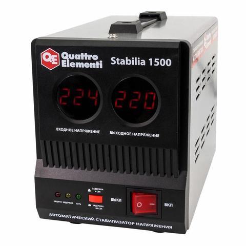 Стабилизатор напряжения QUATTRO ELEMENTI Stabilia  1500 (1500 ВА, 140-270 В, 3,9 кг) (772-050)