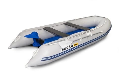 Надувная ПВХ-лодка Солар Максима - 380 (светло-серый)