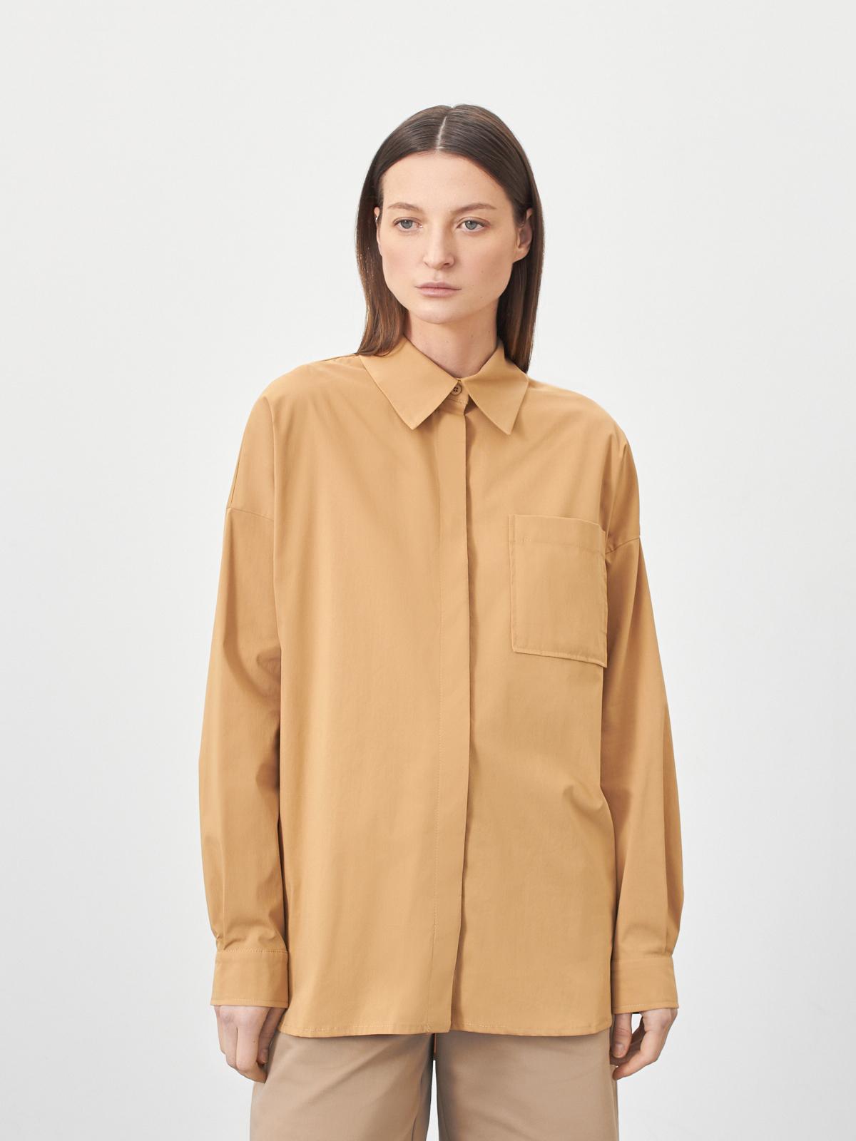 Рубашка Arwen объёмная с карманом, Бежевый