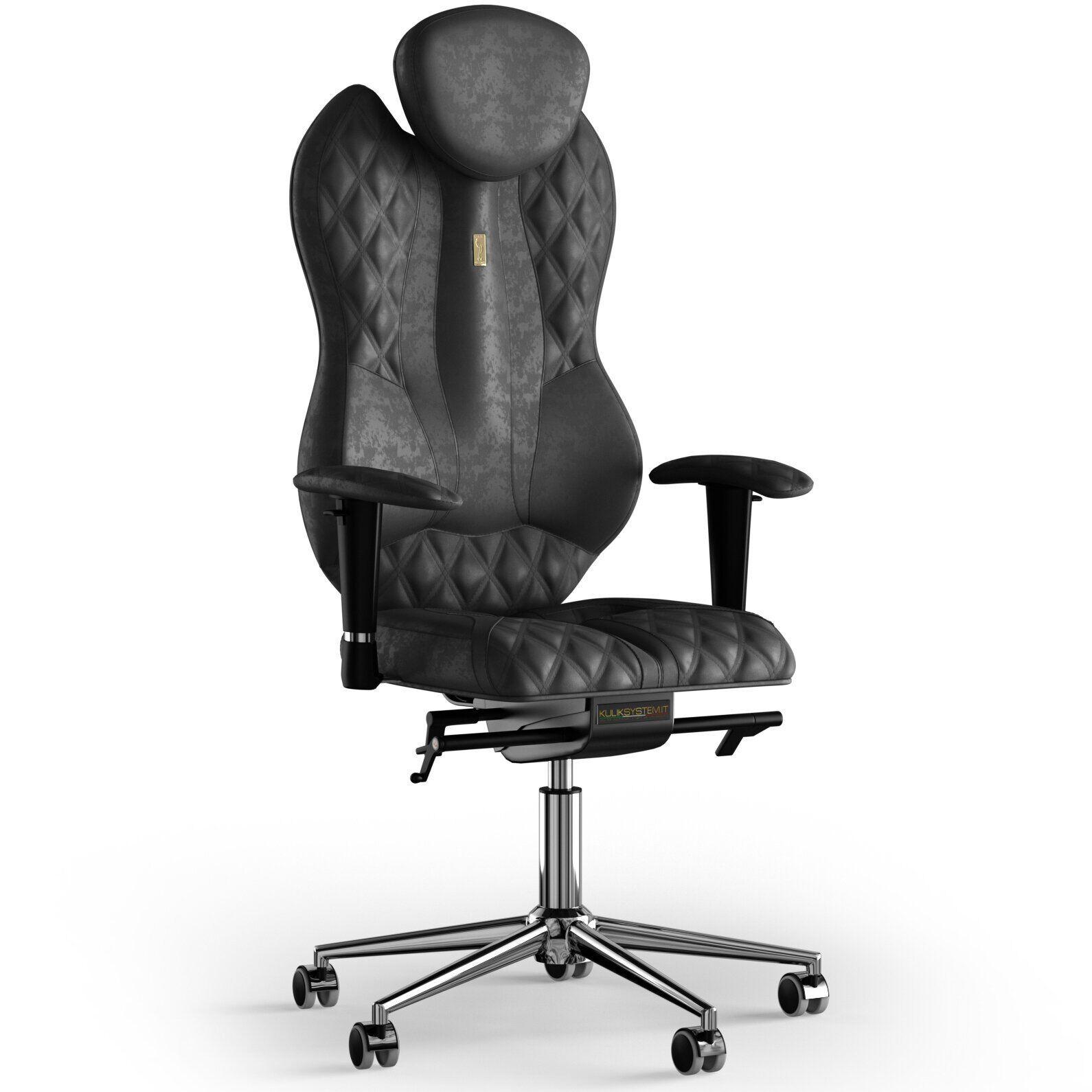 Кресло KULIK SYSTEM GRAND Антара с подголовником со строчкой