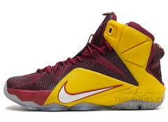 Мужские Кроссовки Nike Lebron XII Cherry Yellow