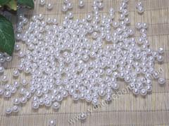 Бусины жемчуг белый (акрил)