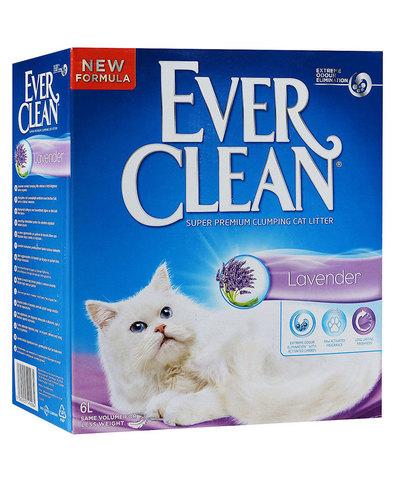 Ever Clean Lavender комкующийся наполнитель с ароматом лаванды д/кошек (6 л)