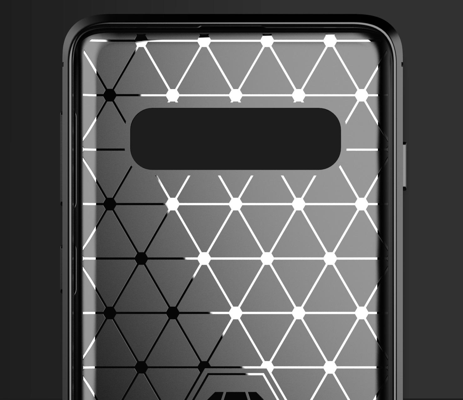 Чехол Samsung Galaxy S10 Plus цвет Gray (серый), серия Carbon, Caseport