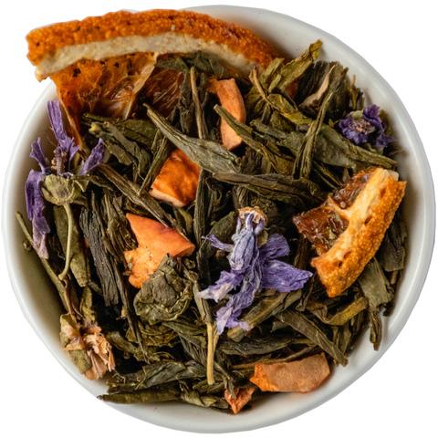 Зеленый чай с апельсином и корицей