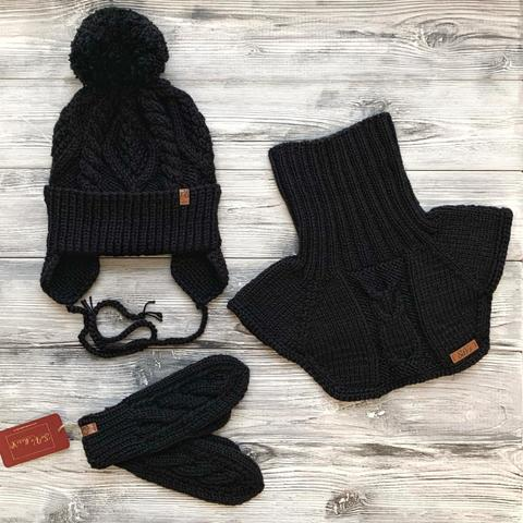 Комлект:шапка,манишка,варежки