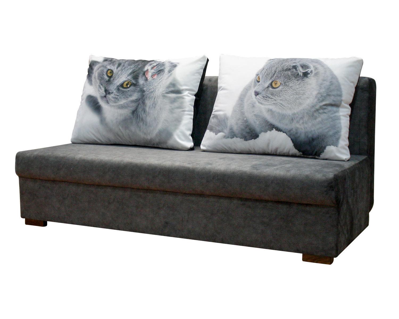 евротахта Карелия без подлокотников с большими нестандартными подушками