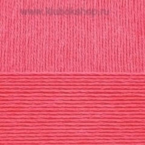 Пряжа Хлопок натуральный (Пехорка) малиновый 439