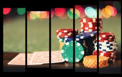 """Модульная картина """"Покер"""""""
