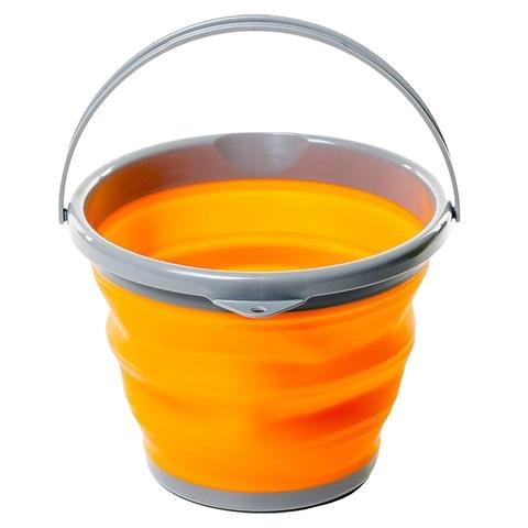 Tramp ведро складное силиконовое 10 л (оранжевый)