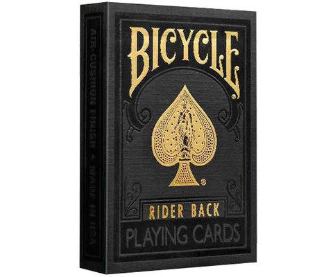 Premium Bicycle Black & Gold Rider Back