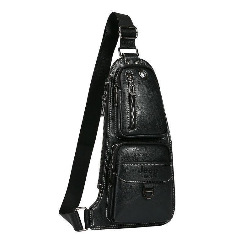 Мужская сумка рюкзак Jeep черная