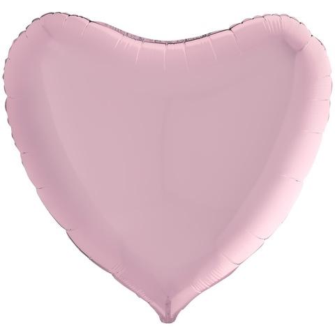 Воздушный шар сердце большое, розовый, 91 см