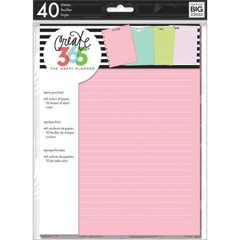 Дополнительный блок листов для ежедневника Happy Planner Classic -Colored