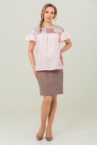 Льняная свободная блуза Сладкая ваниль