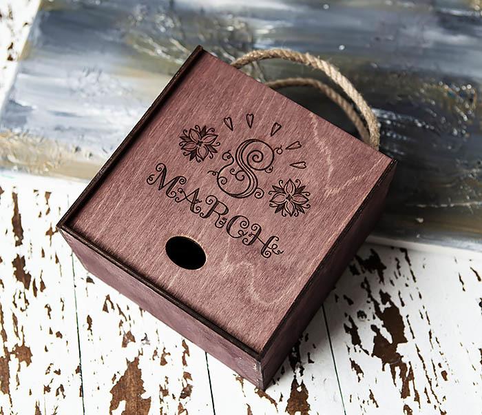 BOX220-3 Деревянная коробка для подарков «8 MARCH» (17*17*10 см) фото 03