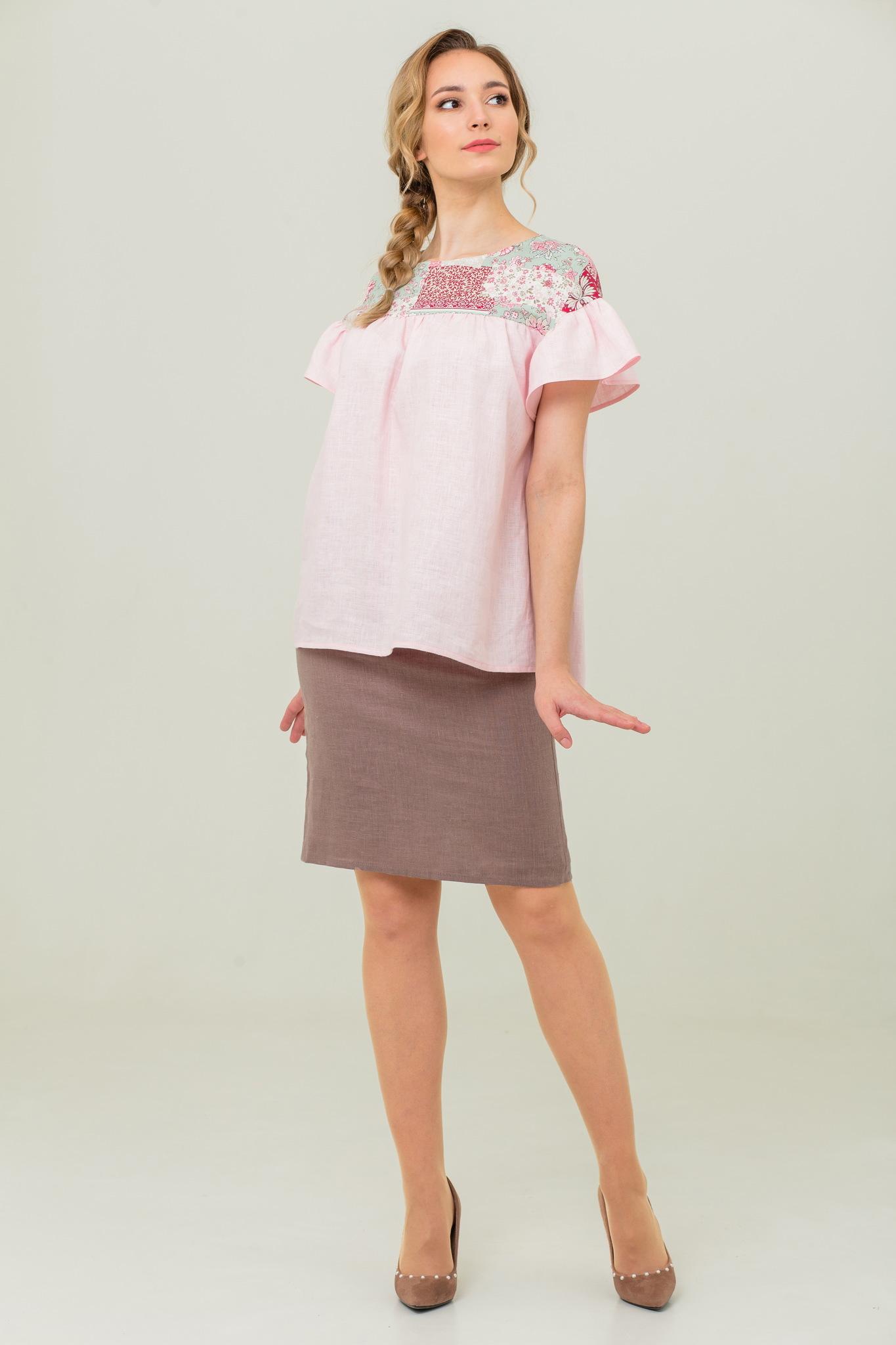 Блуза с рюшами Сладкая ваниль