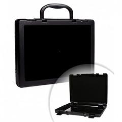 Папка-портфель Стамм пластиковая А4 черная (270x360 мм, 1 отделение)