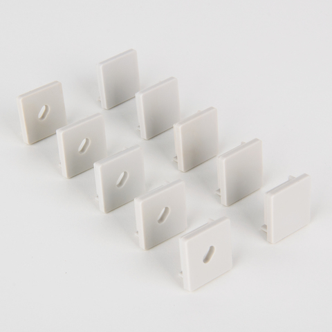 Комплект заглушек для квадратного углового профиля для светодиодной ленты (5 пар) ZLL-2-ALP009