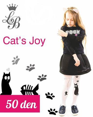 Колготки LB CAT`S JOY (белый) 50 den
