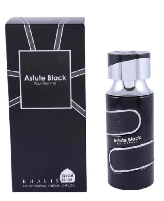 Пробник для Astute Black Pour Homme  Астут Блэк 1 мл арабские масляные духи от Халис Khalis Perfumes