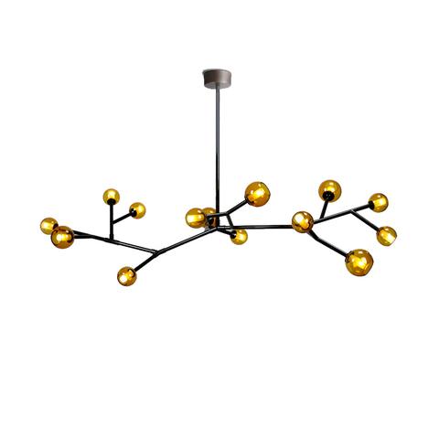 Потолочный светильник копия Last Night Branche by Damien Langlois-Meurinne (желтые плафоны)