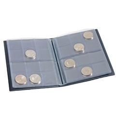 Карманный альбом для монет, 8 листов на 12 ячеек, синий