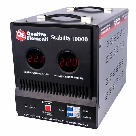 Стабилизатор напряжения QUATTRO ELEMENTI Stabilia 10000 (10000 ВА, 140-270 В, 18.6 кг, бай (772-104)