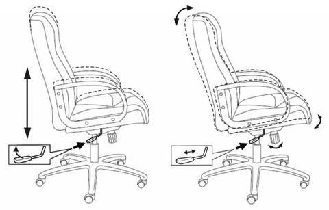 CH-838AXSN Кресло руководителя (Бюрократ)