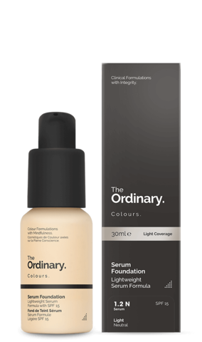 Тональное средство The Ordinary Serum Foundation SPF15 (1.2N) Light