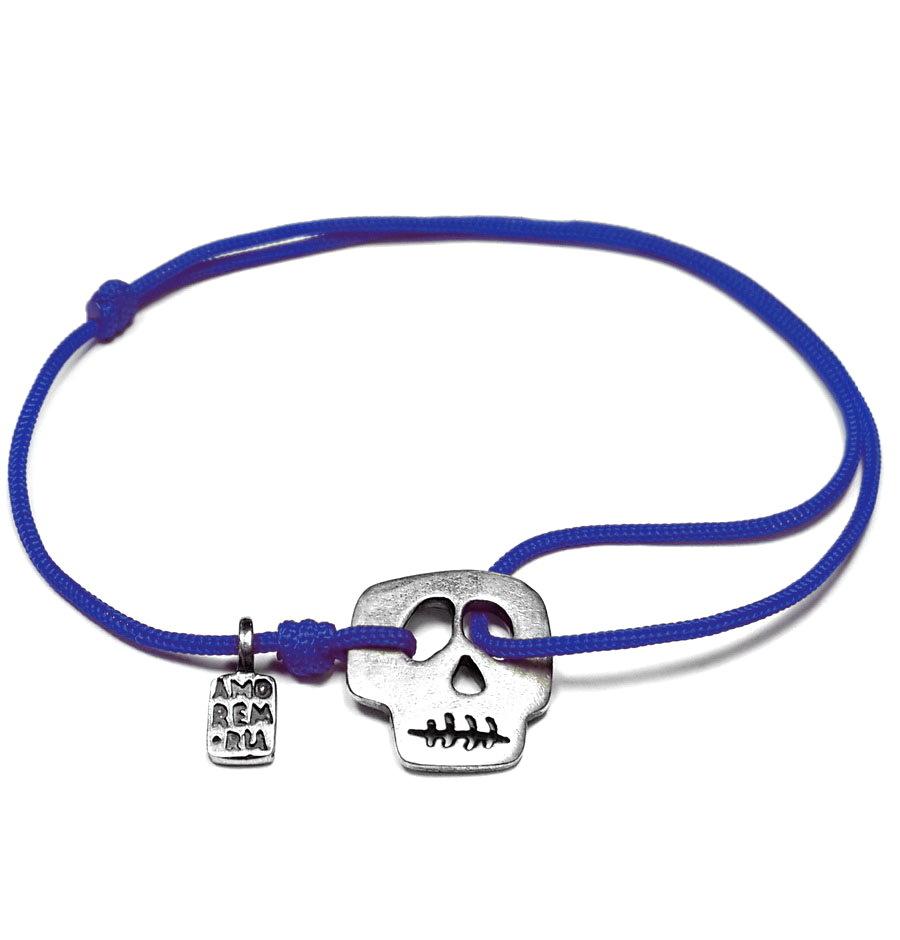Freddy skull bracelet, sterling silver