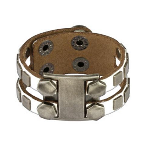 Белый кожаный браслет SPIKES SL0119-W
