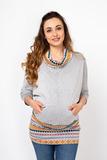 Туника для беременных и кормящих 08053 серый