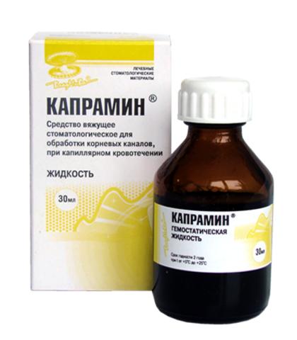 Кровоостанавливающая жидкость с антисептиком Капрамин 30 мл
