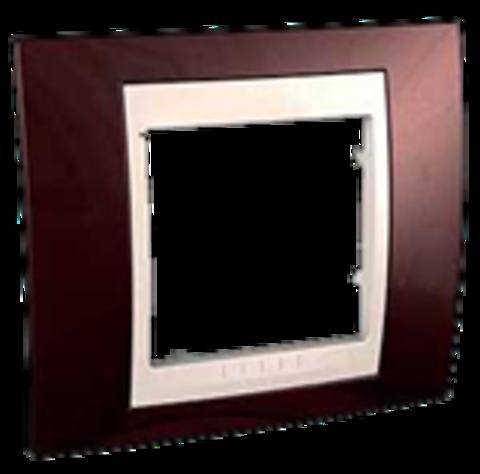 Рамка на 1 пост. Цвет Терракотовый/Белый. Schneider electric Unica Хамелеон. MGU6.002.851