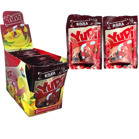 Растворимый напиток YUPI Кола 1кор*6бл*24шт 15гр.