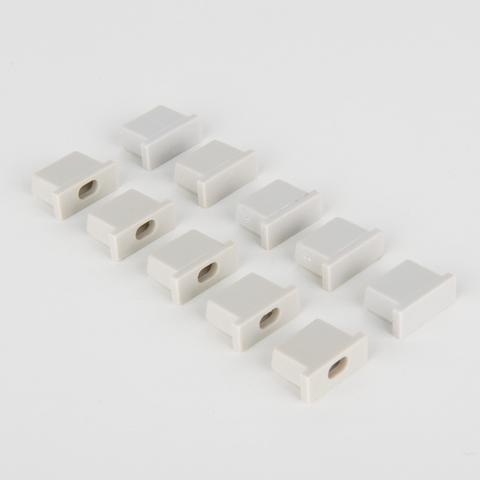 Комплект заглушек для встраиваемого алюминиевого профиля для светодиодной ленты (5 пар) ZLL-2-ALP007