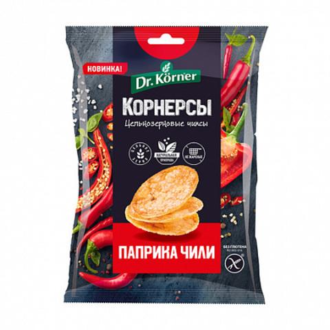 Dr. Korneк Чипсы ц/з кукурузно-рисовые с паприкой и чили 50 гр