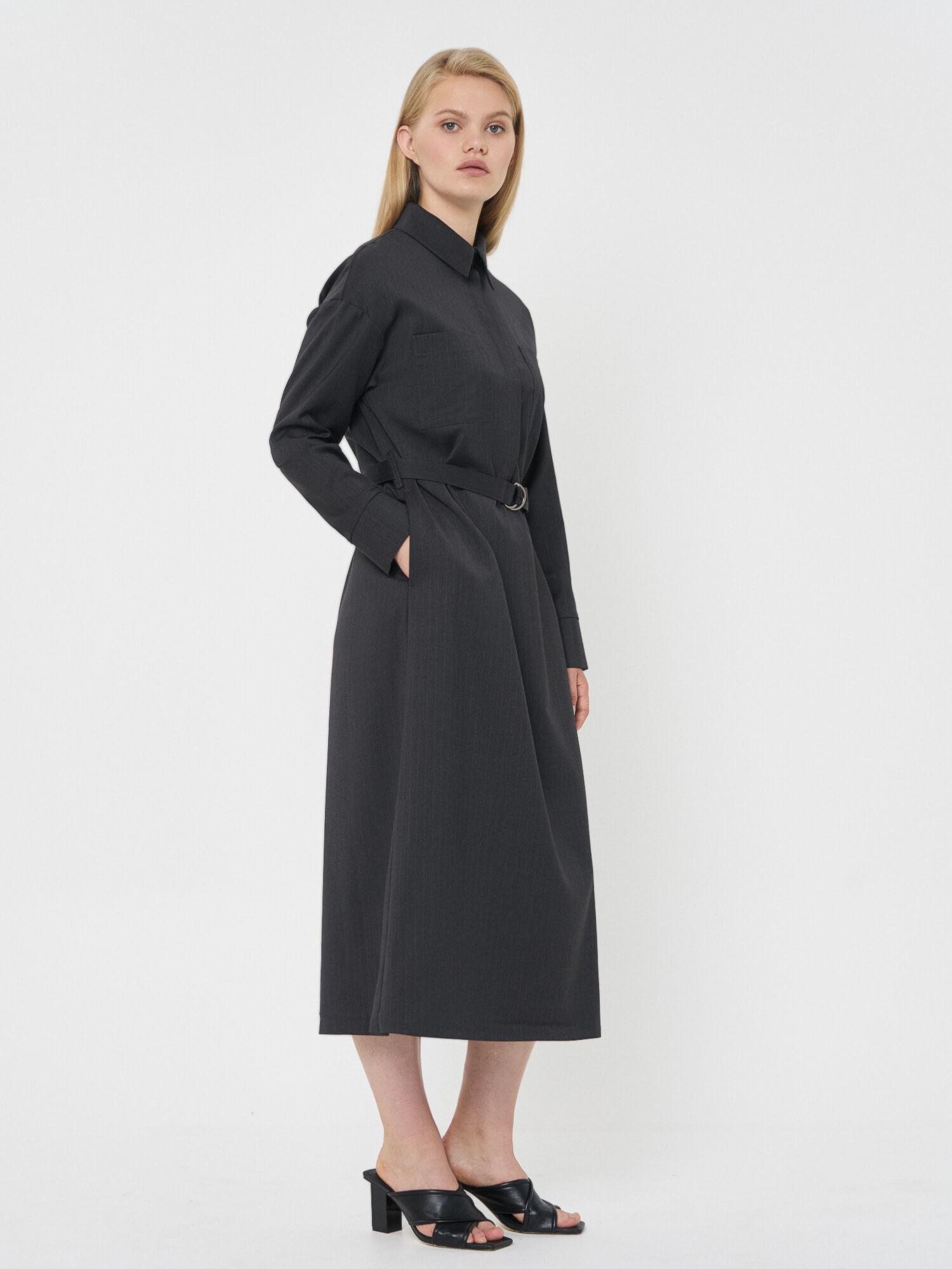 Платье-рубашка Kamila, Темно-серый