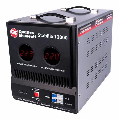 Стабилизатор напряжения QUATTRO ELEMENTI Stabilia 12000 (12000 ВА, 140-270 В, 20.5 кг, бай (772-111)