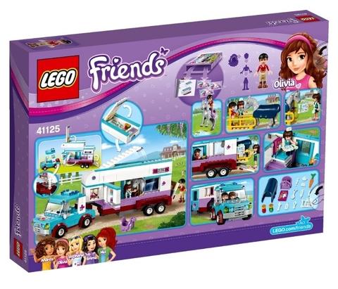 LEGO Friends: Ветеринарная машина для лошадок 41125 — Horse Vet Trailer — Лего Друзья Продружки Френдз