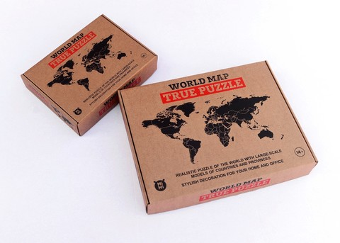 Карта мира World Map True Puzzle Brown 150 см х 90 см