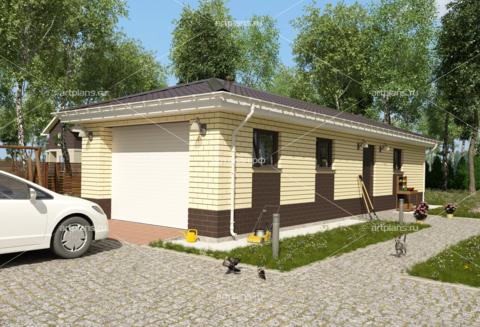 Проект кирпичного гаража на 2 машины