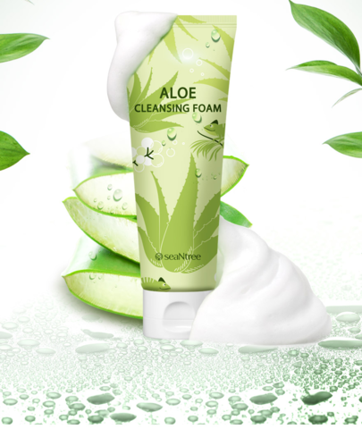 Пенка для умывания с алоэ, 120 мл / SeaNtree Aloe Cleansing Foam