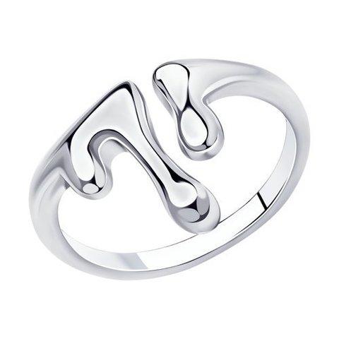 94013147 - Кольцо из серебра SKLV | Liquid metal
