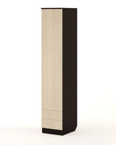 Шкаф-пенал П-04 венге / дуб беленый