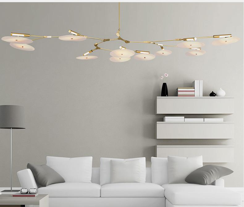 Потолочный светильник копия Branching Discs by Lindsey Adelman (11 плафонов, черный)