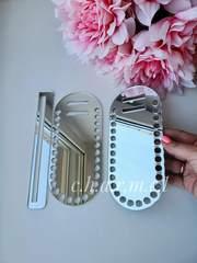Каркас для сумки, акрил, цвет Серебро зеркальный