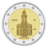 Германия 2015 год 2 евро Гессен двор G   UNC из ролла, Федеральные земли Германии