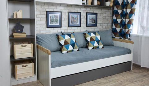 Кровать с доп сп местом «Ньютон Грэй»